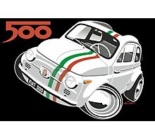 Fiat 500D caricature white Photographic Print