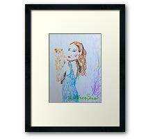 Kitty Blue Framed Print