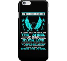 My Granddaughter My Angel, Gift For Grandpa, Gift For Granma iPhone Case/Skin