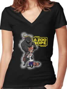 Nick Solo & Chief Chewiee - Variant Women's Fitted V-Neck T-Shirt