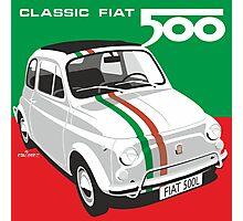 Fiat 500 Italian flag Photographic Print