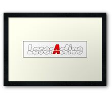 LaserActive Logo Framed Print