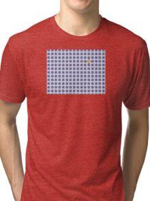 Purple & Orange Tessellation Tiles Tri-blend T-Shirt