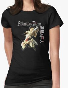 levi in full attack mode Womens Fitted T-Shirt