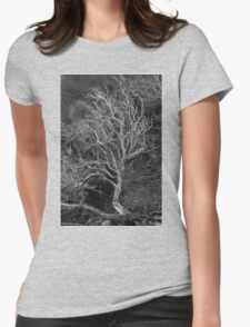 Tree Sculpture Womens Fitted T-Shirt