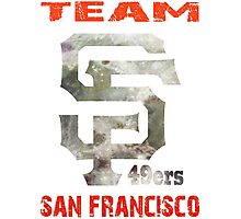 Team SF 49ers Photographic Print