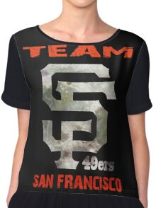 Team SF 49ers Chiffon Top