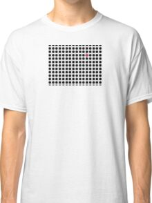 Grey & Red Tiling Tessellation Classic T-Shirt