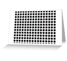 Grey & Red Tiling Tessellation Greeting Card