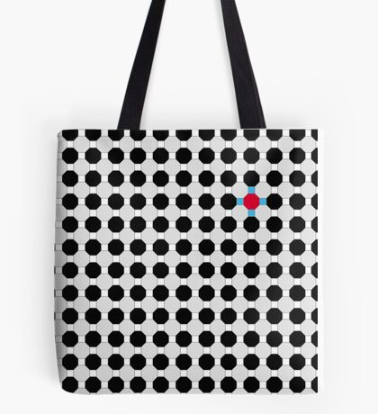 Grey & Red Tiling Tessellation Tote Bag
