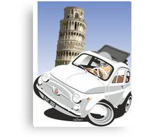 Fiat 500D caricature Pisa Canvas Print