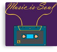 Music is soul Canvas Print