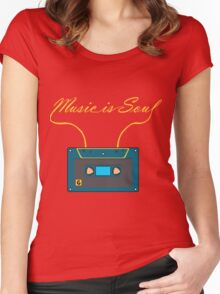 Music is soul Women's Fitted Scoop T-Shirt
