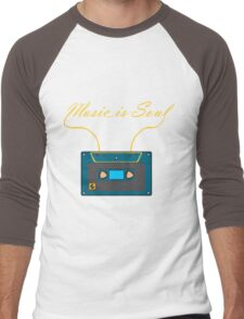 Music is soul Men's Baseball ¾ T-Shirt