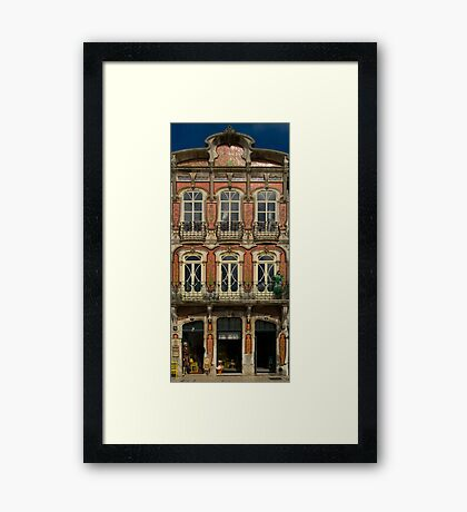 Art Nouveau facade Portugal Europe Framed Print