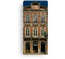 Art Nouveau facade Portugal Europe Canvas Print