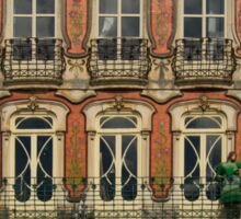 Art Nouveau facade Portugal Europe Sticker
