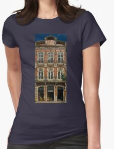 Art Nouveau facade Portugal Europe Womens Fitted T-Shirt