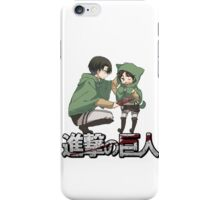 cute levi and eren attack on titan design  iPhone Case/Skin