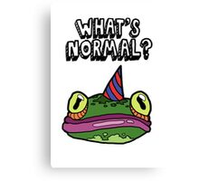 'What's Normal?' Ft. Froggy Canvas Print