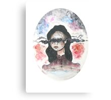 All I see are flowers in the dark Canvas Print