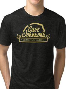 cave johnson's combustible lemons Tri-blend T-Shirt