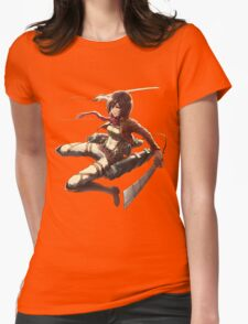 mikasa military design attack on titan Womens Fitted T-Shirt
