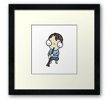 Clarinet Boy Framed Print