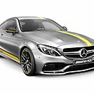 Mercedes‑AMG C 63 S luxury sports car art photo print by ArtNudePhotos