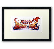Breath of Fire Logo Framed Print