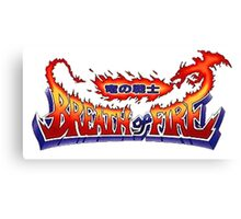 Breath of Fire Logo Canvas Print