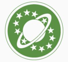Galaxy Quest Emblem Green Baby Tee