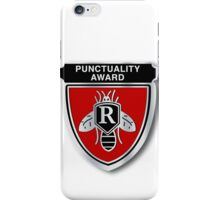 Rushmore Punctuality Pin iPhone Case/Skin