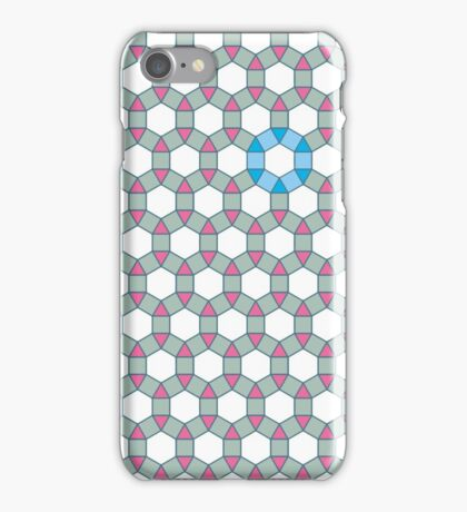 Tiling Tessellation In Green, Blue & Pink iPhone Case/Skin