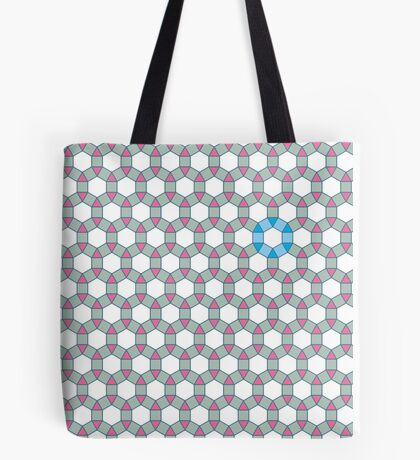 Tiling Tessellation In Green, Blue & Pink Tote Bag