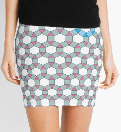 Tiling Tessellation In Green, Blue & Pink Mini Skirt
