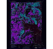 USGS TOPO Map Rhode Island RI East Greenwich 353280 1957 24000 Inverted Photographic Print
