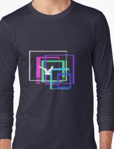 Flight Through Squares Long Sleeve T-Shirt