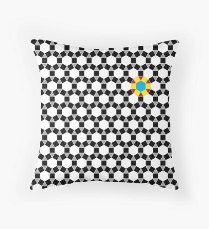 Black & White Tessellation Pattern Throw Pillow