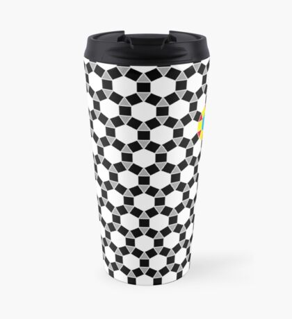 Black & White Tessellation Pattern Travel Mug