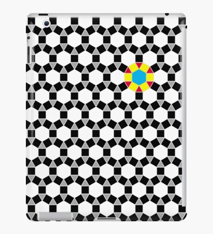Black & White Tessellation Pattern iPad Case/Skin