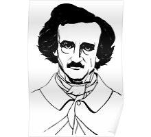 Edgar Allan Poe Illustration Poster