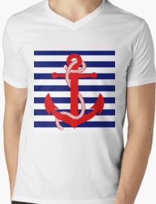 Ahoy! (blue) Mens V-Neck T-Shirt