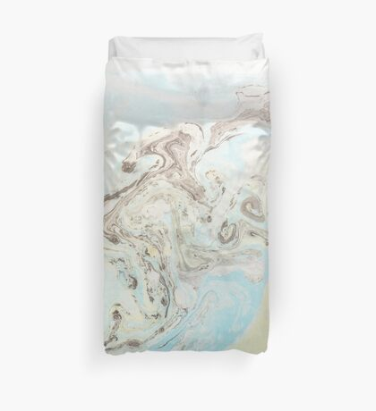 Beautiful elegant intricate ink swirl design for large textile and art prints Duvet Cover