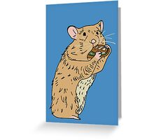 Hungry, Hungry Hamster Greeting Card