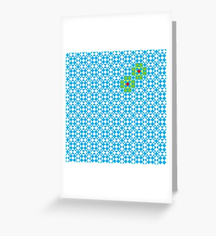 Tessellation tiling pattern in blue Greeting Card