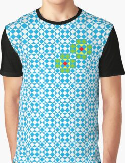 Tessellation tiling pattern in blue Graphic T-Shirt