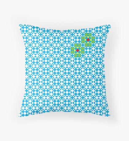Tessellation tiling pattern in blue Throw Pillow