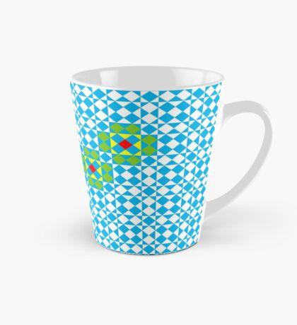 Tessellation tiling pattern in blue Mug