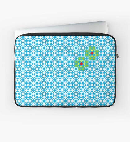 Tessellation tiling pattern in blue Laptop Sleeve
